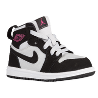 Jordan AJ 1 High - Girls' Toddler - White / Pink