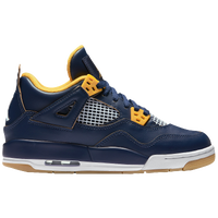 Jordan Retro 4 - Boys' Grade School - Navy / Gold