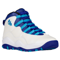 Jordan Retro 10 - Boys' Grade School - White / Purple