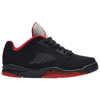 Jordan Retro 5 Low - Boys' Grade School - Black / Red