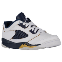 Jordan Retro 5 Low - Boys' Preschool - White / Gold