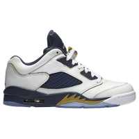 Jordan Retro 5 Low - Men's - White / Gold