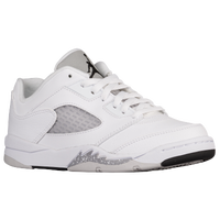 Jordan Retro 5 Low - Girls' Preschool - White / Black