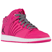 Jordan 1 Flight 4 - Girls' Grade School - Pink / Black
