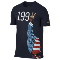 Jordan Retro 7 Pure Gold T-Shirt - Men's - USA - Navy / White