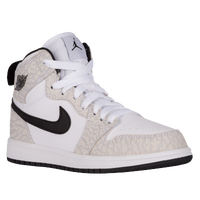 Jordan AJ 1 High - Boys' Preschool - White / Grey