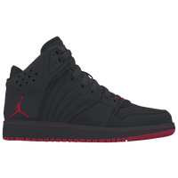 Jordan 1 Flight 4 - Boys' Grade School - Black / Red