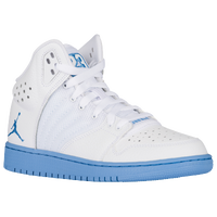 Jordan 1 Flight 4 - Boys' Grade School - White / Light Blue