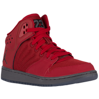 Jordan 1 Flight 4 - Boys' Grade School - Red / Grey