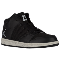 Jordan 1 Flight 4 - Boys' Preschool - Black / Grey