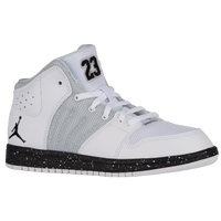 Jordan 1 Flight 4 - Boys' Preschool - White / Grey