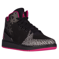 Jordan 1 Flight 3 - Girls' Grade School - Black / Grey