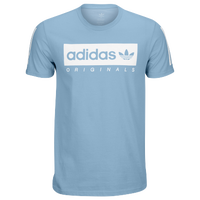 adidas Originals Graphic T-Shirt - Men's - Light Blue / White
