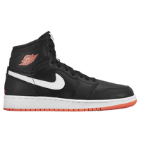 Jordan AJ 1 High - Girls' Grade School - Black / Red
