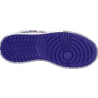 Jordan AJ 1 High - Girls\u0026#39; Grade School - White / Purple