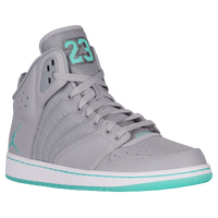 Jordan 1 Flight 4 - Men's - Grey / Aqua