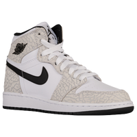 Jordan AJ 1 High - Boys' Grade School - White / Grey