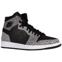 Jordan AJ 1 High - Men's - Black / Grey