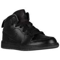 Jordan AJ1 Mid - Boys' Preschool - All Black / Black