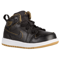 Jordan AJ1 Mid - Boys' Toddler - Black / Gold