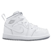 Jordan AJ 1 Mid - Boys' Toddler - White / Grey