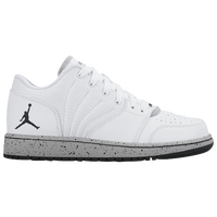 Jordan 1 Flight 4 Low - Boys' Grade School - White / Black