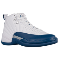 Jordan Retro 12 - Boys' Grade School - White / Navy