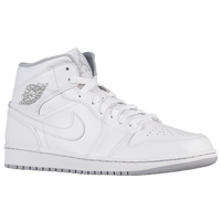 Jordan AJ1 Mid - Men's - White / Grey