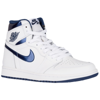 Jordan Retro 1 High OG - Men's - White / Navy