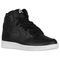 Jordan Retro 1 High OG - Boys' Grade School - Black / Grey