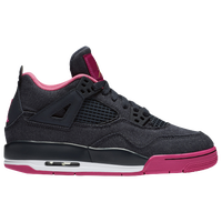 Jordan Retro 4 - Girls' Grade School - Black / Pink