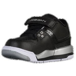 Jordan Flight 23 - Boys' Toddler - Basketball - Shoes - Black/White/Metallic  Silver