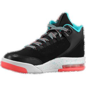 Jordan Flight Origin 2 Girls' Grade School Black/Hot Lava/Light Retro/White Basketball Shoes 17578