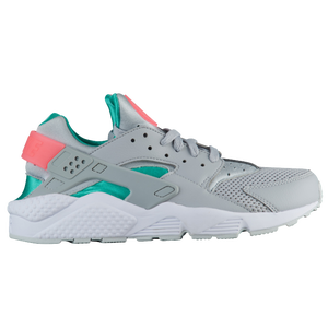 Nike Air Huarache - Men's - Casual - Shoes - Wolf Grey/Sunset Pulse/Kinetic  Green/White