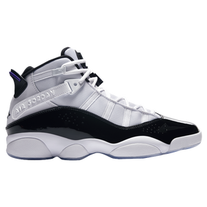 Jordan 6 Rings - Men's - Basketball - Shoes - White/Black/Dark Concord/Clear