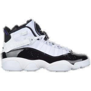 Jordan 6 Rings - Boys' Grade School - Basketball - Shoes - White/Black/Dark  Concord/Clear