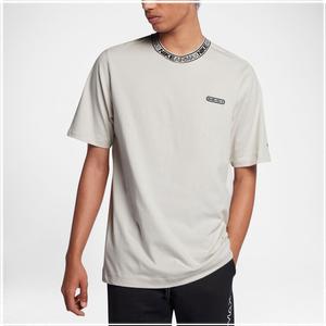 Nike Air Max Short Sleeve Top - Men's Casual - Light Bone/Light Bone/Black 61610072