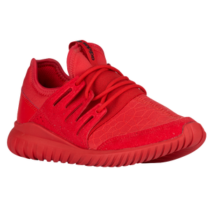 adidas Originals Tubular Radial - Boys' Grade School - Casual - Shoes - Red/ Red/Red