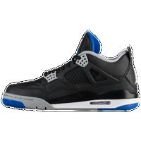 jordan shoes for men. jordan retro 4 - men\u0027s black / blue shoes for men