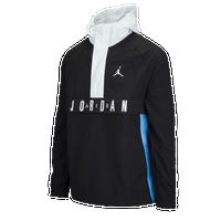 jordan clothing. jordan wings anorak - men\u0027s black / white clothing