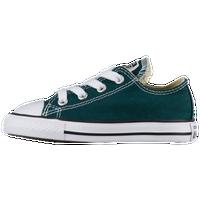 6b08f5b9a83c5d Converse All Star Ox - Boys  Toddler - Dark Green   White