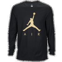 jordan clothing. jordan jsw jumpman air long sleeve t-shirt - men\u0027s black / clothing