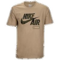 Nike Graphic T-Shirt - Men's - Tan / Dark Green